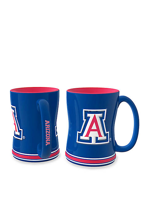 14-oz. NCAA Arizona Wildcats 2-Pack Relief Sculpted Coffee Mug Set
