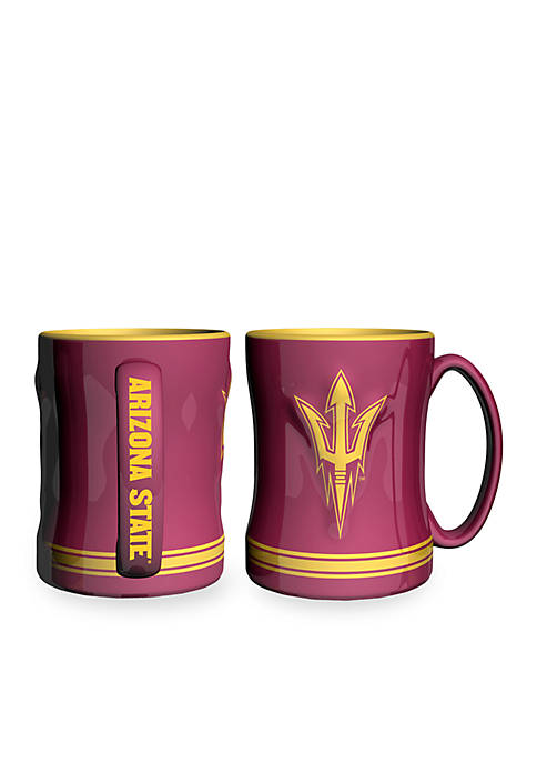 14-oz. NCAA Arizona State Sun Devils 2-pack Relief Sculpted Coffee Mug Set