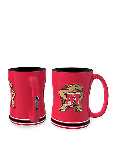 14-oz. NCAA Maryland Terrapins 2-pack Relief Sculpted Coffee Mug Set