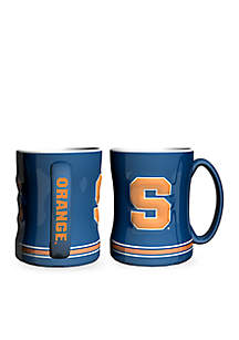 14-oz. NCAA Syracuse Orangemen 2-Pack Relief Sculpted Coffee Mug Set