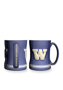 14-oz. NCAA Washington Huskies 2-pack Relief Sculpted Coffee Mug Set