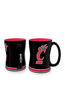 14-oz. NCAA Cincinnati Bearcats 2-pack Relief Sculpted Coffee Mug Set