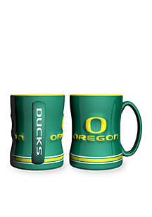 14-oz. NCAA Oregon Ducks 2-pack Relief Sculpted Coffee Mug Set