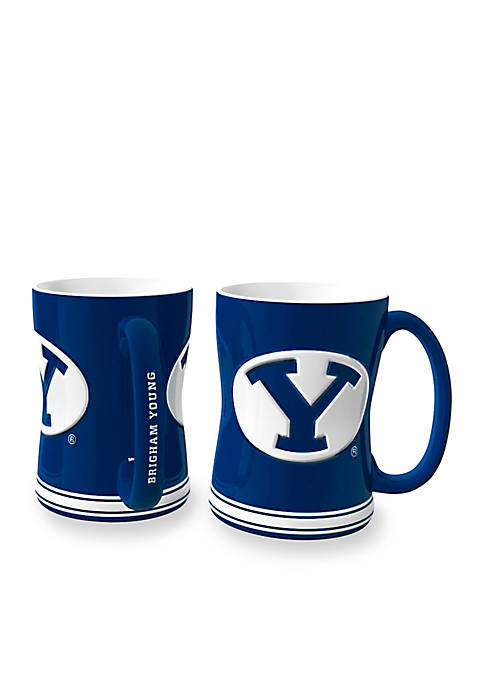 Boelter 14-oz. NCAA BYU Cougars 2-pack Relief Sculpted
