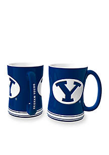 14-oz. NCAA BYU Cougars 2-pack Relief Sculpted Coffee Mug Set