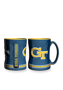 14-oz. NCAA Georgia Tech Yellow Jackets 2-pack Relief Sculpted Coffee Mug Set