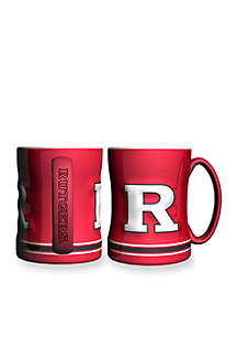 14-oz. NCAA Rutgers Scarlett Knights 2-Pack Relief Sculpted Coffee Mug Set