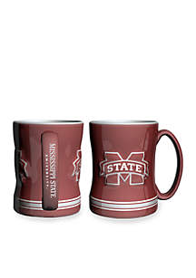 14-oz. NCAA Mississippi State Bulldogs 2-Pack Relief Sculpted Coffee Mug Set