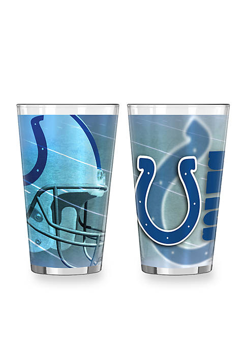 16-oz. NFL Indianapolis Colts 2-pack Shadow Sublimated Pint Glass Set