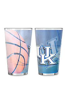 16-oz. NCAA Kentucky Wildcats 2-pack Shadow Sublimated Pint Glass Set