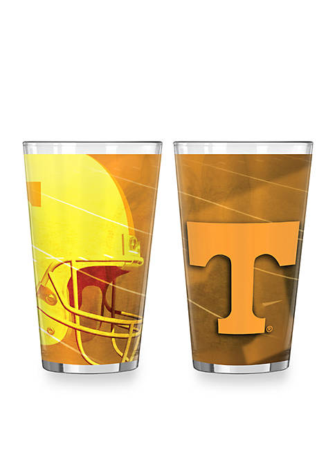 16-oz. NCAA Tennessee Volunteers 2-pack Shadow Sublimated Pint Glass Set
