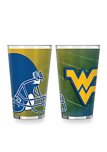 16-oz. NCAA West Virginia Mountaineers 2-Pack Shadow Sublimated Pint Glass Set