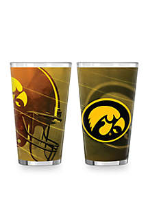 Boelter 16-oz. NCAA Iowa Hawkeyes 2-Pack Shadow Sublimated Pint Glass Set