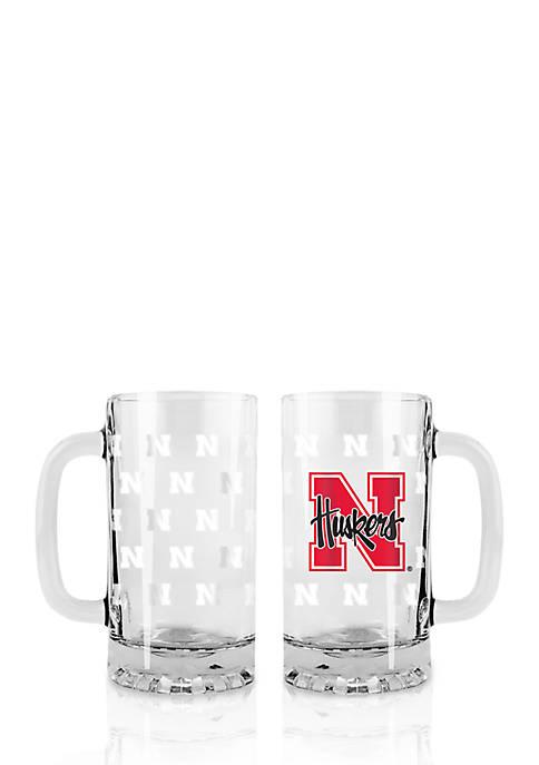16-oz. NCAA Nebraska Cornhuskers 2-pack Glass Tankard Set