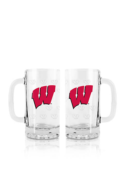 Boelter 16-oz. NCAA Wisconsin Badgers 2-pack Glass Tankard