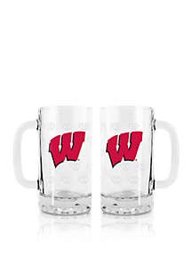 16-oz. NCAA Wisconsin Badgers 2-pack Glass Tankard Set