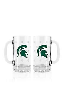 16-oz. NCAA Michigan State Spartans 2-pack Glass Tankard Set