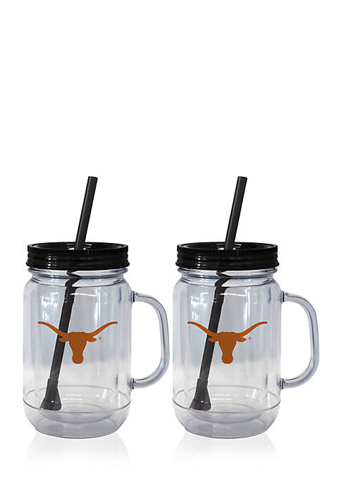 Boelter 20-oz. NCAA Texas Longhorns 2-pack Straw Tumbler