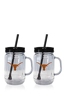 20-oz. NCAA Texas Longhorns 2-pack Straw Tumbler with Handle