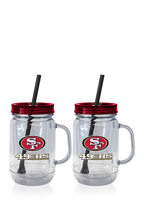 Boelter 20oz NFL San Francisco 49ers 2-pack Straw