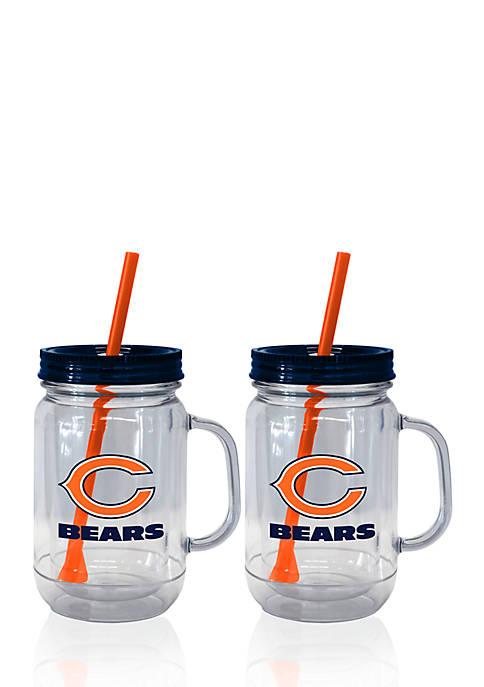 Boelter 20oz NFL Chicago Bears 2-pack Straw Tumbler