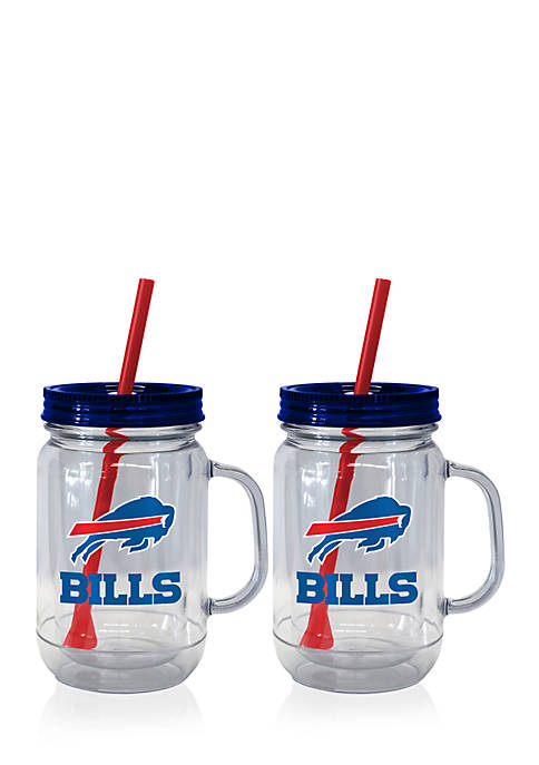 Boelter 20oz NFL Buffalo Bills 2-pack Straw Tumbler