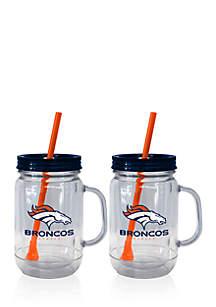 20oz NFL Denver Broncos 2-pack Straw Tumbler with Handle