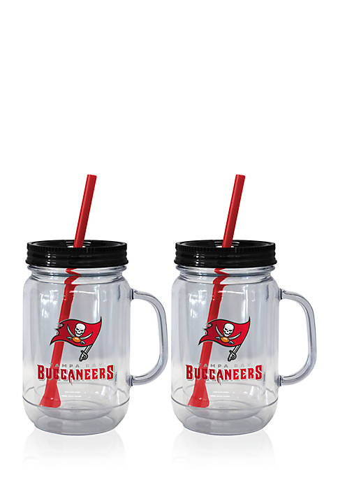 Boelter 20oz NFL Tampa Bay Buccaneers 2-pack Straw