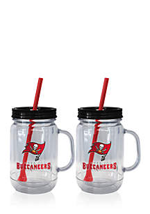 20oz NFL Tampa Bay Buccaneers 2-pack Straw Tumbler with Handle