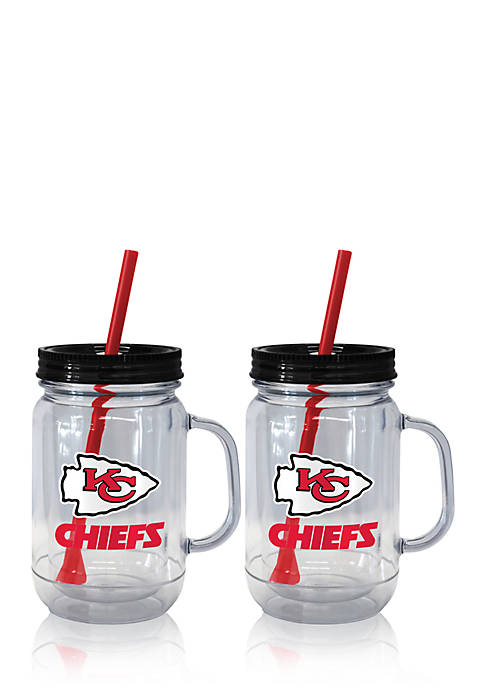 Boelter 20oz NFL Kansas City Chiefs 2-pack Straw