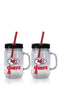 20oz NFL Kansas City Chiefs 2-pack Straw Tumbler with Handle