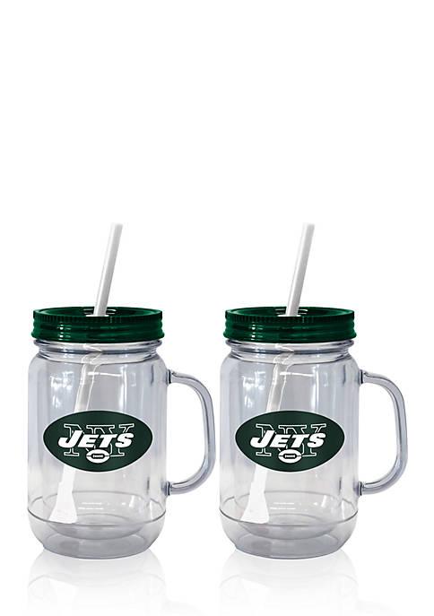 Boelter 20oz NFL New York Jets 2-pack Straw