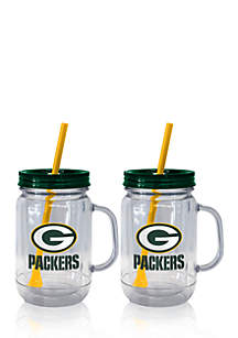 Boelter 20oz NFL Green Bay Packers 2-pack Straw Tumbler with Handle