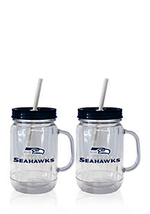 20oz NFL Seattle Seahawks 2-pack Straw Tumbler with Handle
