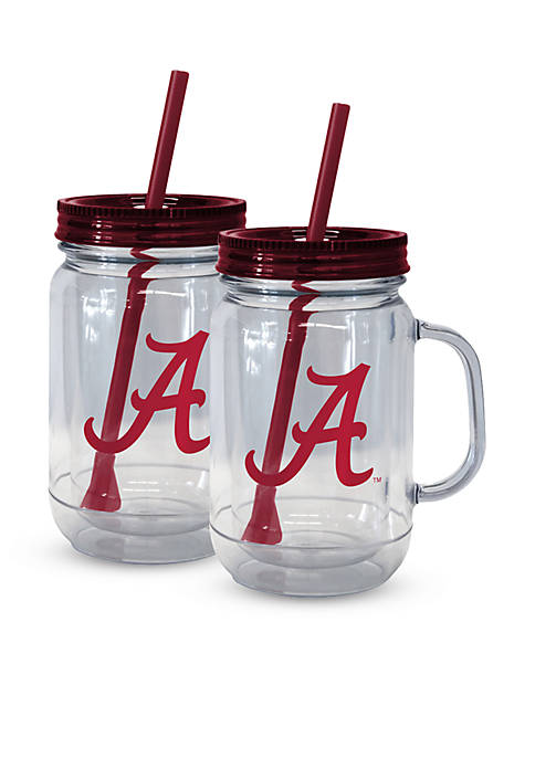 Boelter 20-oz. NCAA Alabama Crimson Tide 2-pack Straw