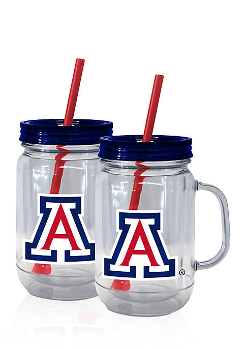 Boelter 20-oz. NCAA Arizona Wildcats 2-pack Straw Tumbler