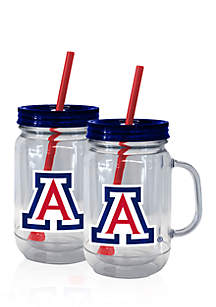 20-oz. NCAA Arizona Wildcats 2-pack Straw Tumbler with Handle