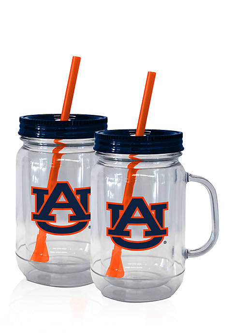 20-oz. NCAA Auburn Tigers 2-Pack Straw Tumbler with Handle