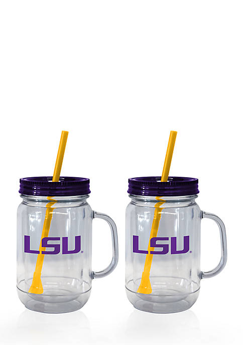 Boelter 20-oz. NCAA LSU Tigers 2-pack Straw Tumbler
