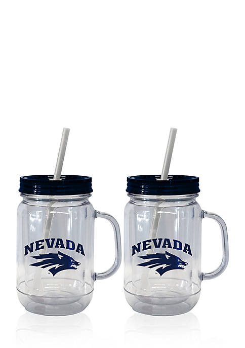 20-oz. NCAA Nevada Wolf Pack 2-pack Straw Tumbler with Handle