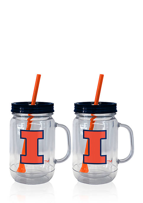 Boelter 20-oz. NCAA Illinois Fighting Illini 2-pack Straw