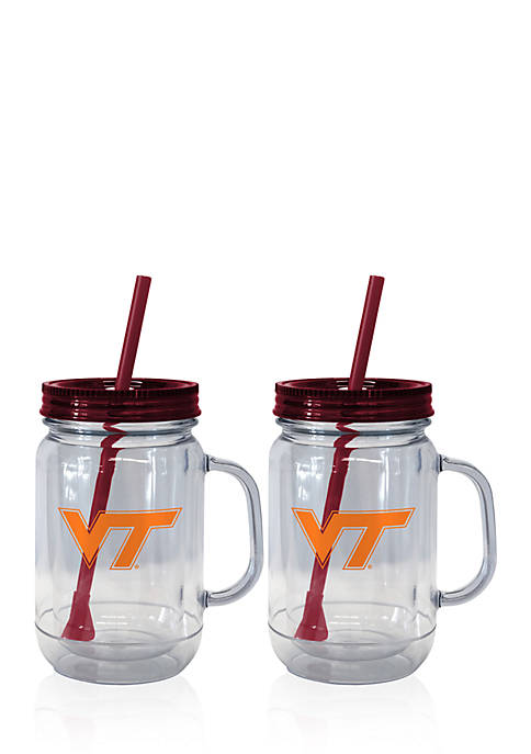 20-oz. NCAA Virginia Tech Hokies 2-pack Straw Tumbler with Handle