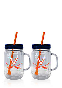 20-oz. NCAA Virginia Cavaliers 2-pack Straw Tumbler with Handle