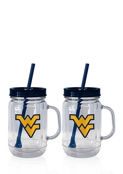 Boelter 20-oz. NCAA West Virginia Mountaineers 2-pack Straw