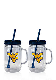 20-oz. NCAA West Virginia Mountaineers 2-pack Straw Tumbler with Handle