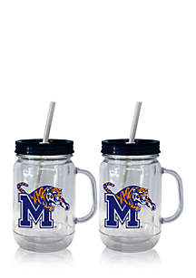 20-oz. NCAA Memphis Tigers 2-pack Straw Tumbler with Handle