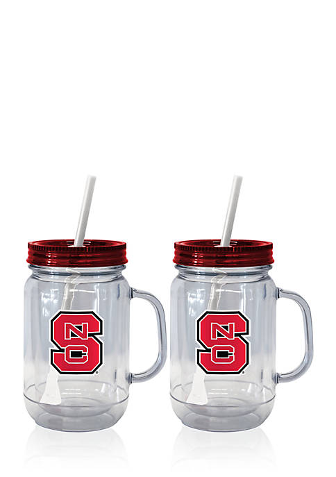20-oz. NCAA NC State Wolfpack 2-pack Straw Tumbler with Handle