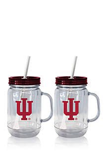20-oz. NCAA Indiana Hoosiers 2-pack Straw Tumbler with Handle