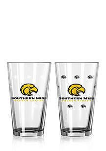 16-oz. NCAA Southern Miss Golden Eagles 2-pack Color Changing Pint Glass Set