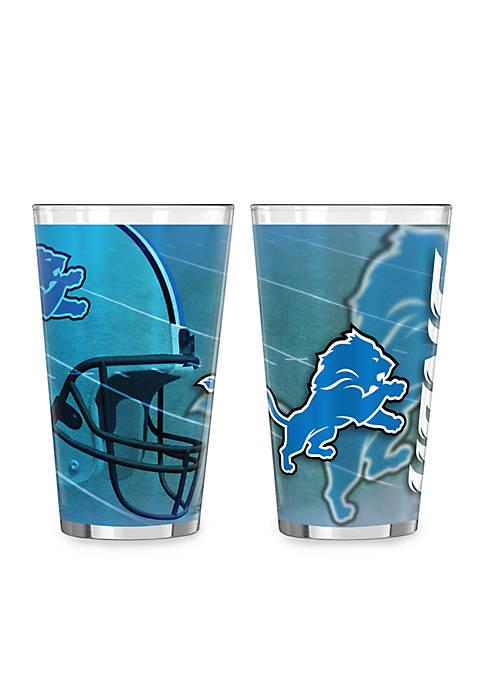 16-oz. NFL Detroit Lions 2-pack Shadow Sublimated Pint Glass Set